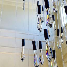 fiber optic chandelier