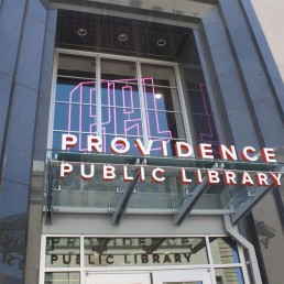 Providence Public Library RGB Programmable Sign with Dimensional Lettering
