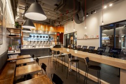 Orion is proud to be the fabrication partner for this innovative restaurant designed by Joe the Architect - Spyce Boston