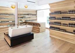 Orion's work in the Aesop Soho retail store