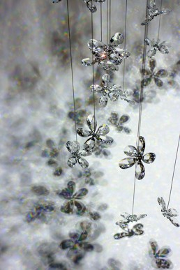 Flower Chandelier with Swarovski Crystal