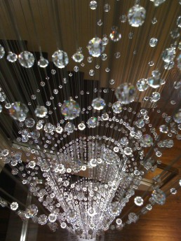 Stairwell Chandelier with Swarovski Crystal