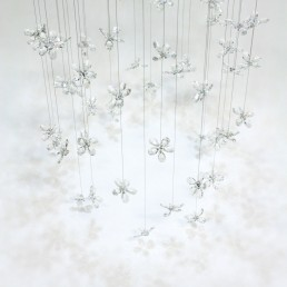 Flower Chandelier with Swarovski Crystal
