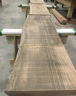 Refinished Oak Slabs